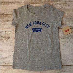 Levi's 4t gray short sleeve tshirt new with tag